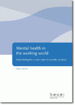 Titelbild der Publikation - Mental health in the working world - Determining the current state of scientific evidence